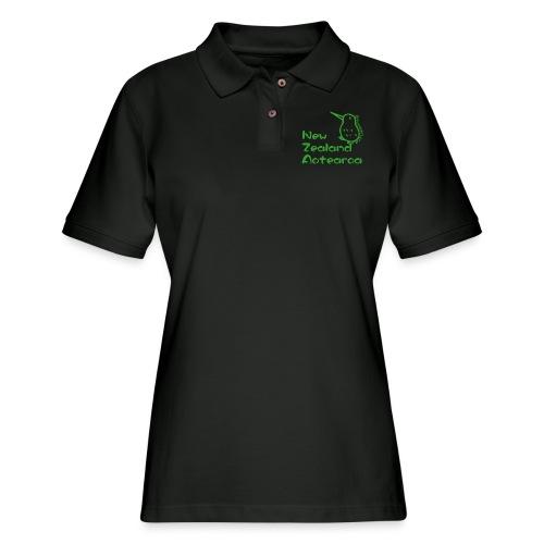 New Zealand Aotearoa - Women's Pique Polo Shirt