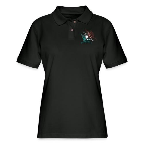 3D Glasses Shark Designer Graphic - Women's Pique Polo Shirt