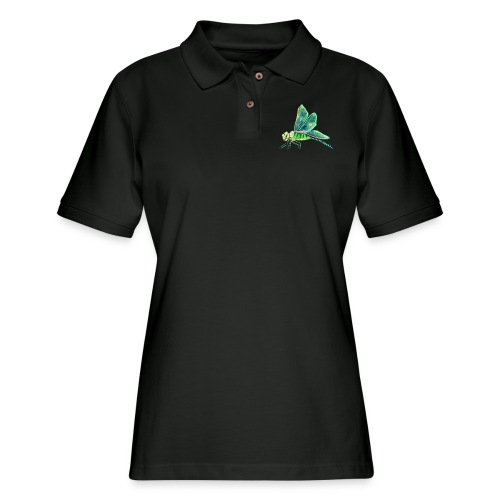 green dragonfly - Women's Pique Polo Shirt