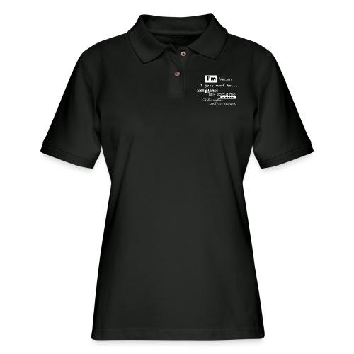 I'm a Vegan - Women's Pique Polo Shirt