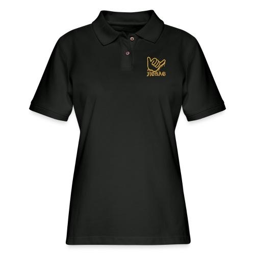 BLACK - HOBAG LOGO - Women's Pique Polo Shirt