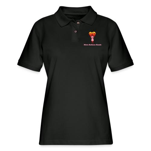 Mista Balloon Hands - Women's Pique Polo Shirt