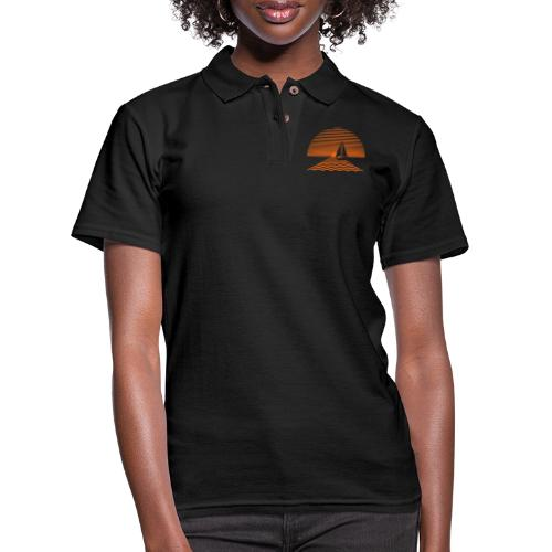 Sunset Sailboat - Women's Pique Polo Shirt