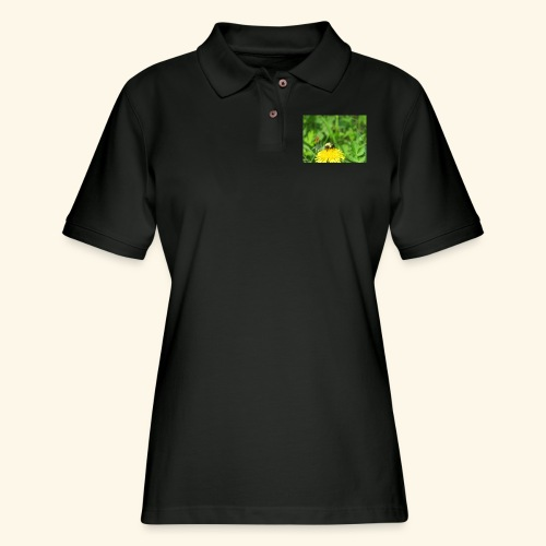 Dandelion Bee - Women's Pique Polo Shirt