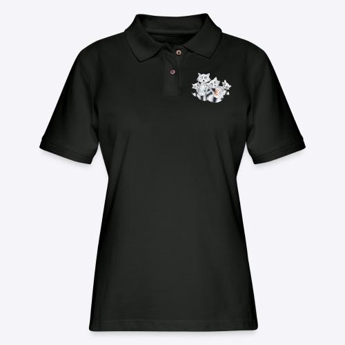 Raccoon Family - Women's Pique Polo Shirt