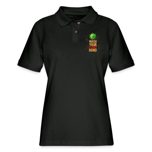coronavirus | Wash your fucking hand | corona - Women's Pique Polo Shirt