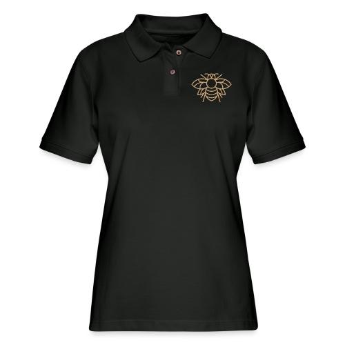 (bee_gold) - Women's Pique Polo Shirt