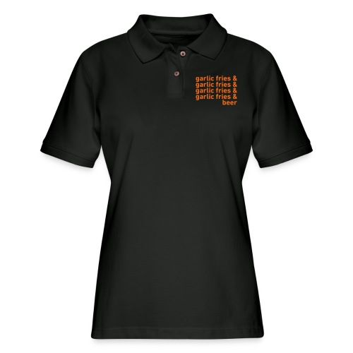 Garlic Fries & Beer (SF Giants) - Women's Pique Polo Shirt