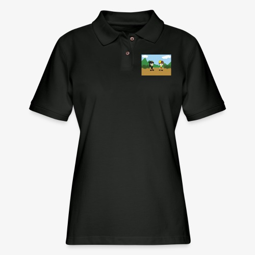 Digital Pontians - Women's Pique Polo Shirt