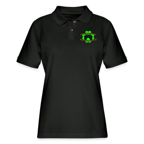 St Patrick s Cheer Me You 3 Color Vector - Women's Pique Polo Shirt