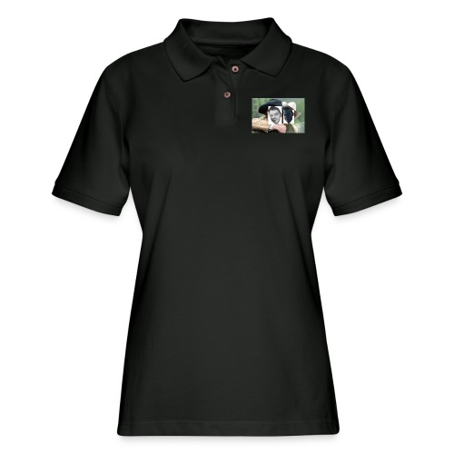 Darien and Curtis Camping Buddies - Women's Pique Polo Shirt