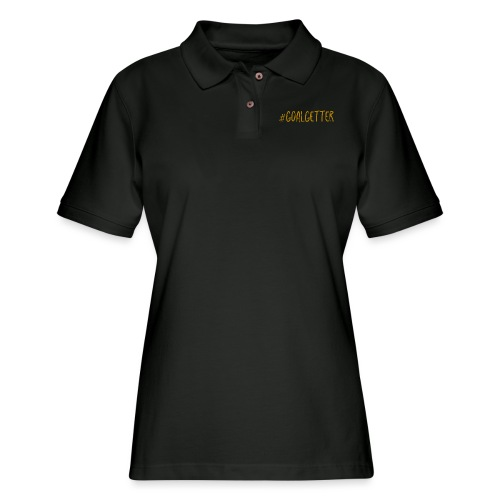 GoalGetter | Never Give Up - Women's Pique Polo Shirt