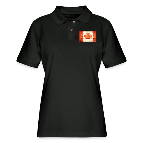 Canada flag - Women's Pique Polo Shirt
