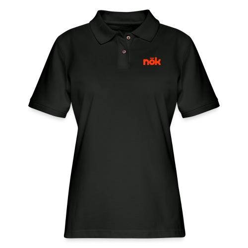 nōk Red - Women's Pique Polo Shirt
