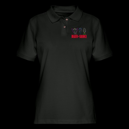 Death Does Not Equal Silence - Women's Pique Polo Shirt