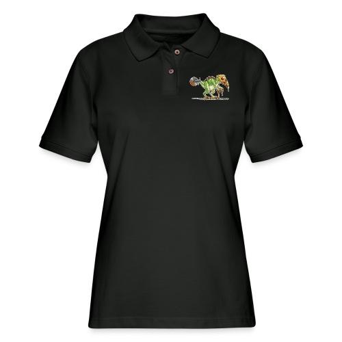 pizzasaurus - Women's Pique Polo Shirt