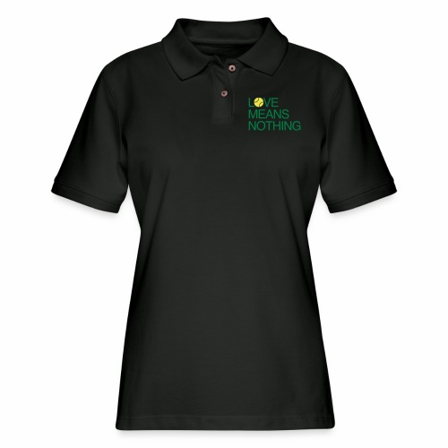 Love Means Nothing - Green - Women's Pique Polo Shirt