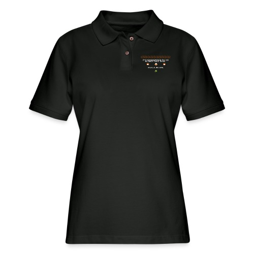 Legend of #Basicincome - Women's Pique Polo Shirt