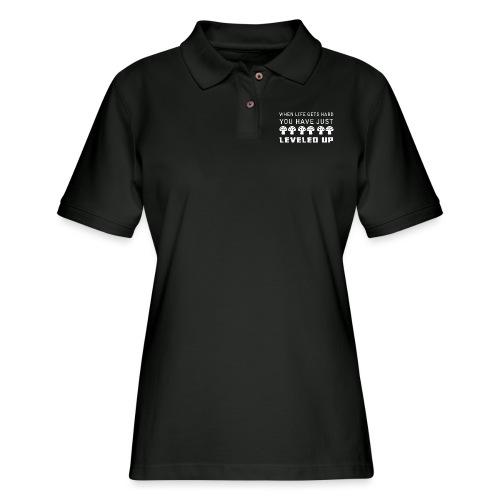 Level Up - Women's Pique Polo Shirt