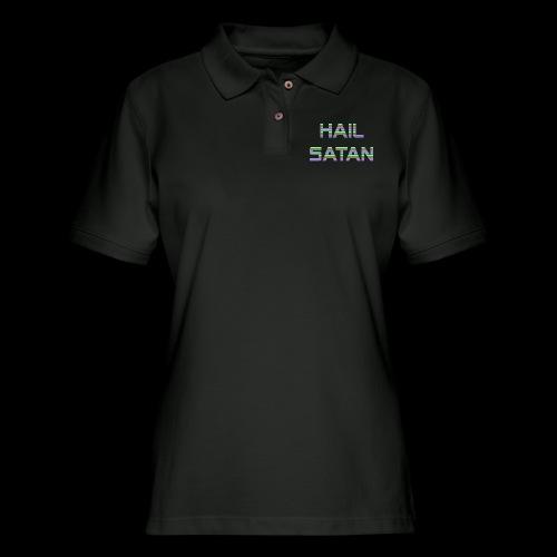Hail Satan - Vaporwave - Women's Pique Polo Shirt