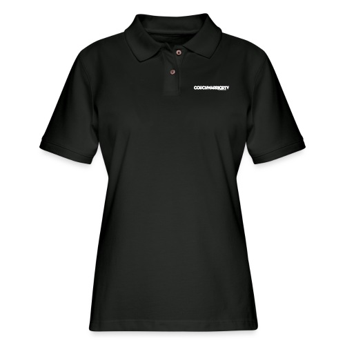 COUCHWARRIORTV Logo Gear - Women's Pique Polo Shirt