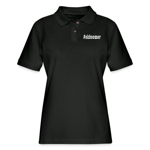 #okboomer - Women's Pique Polo Shirt