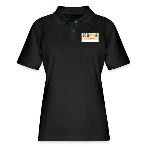 donald trump gets hit with a ball - Women's Pique Polo Shirt