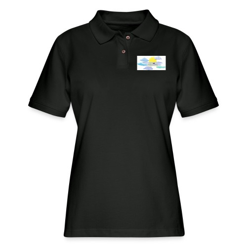 Sea of Clouds - Women's Pique Polo Shirt