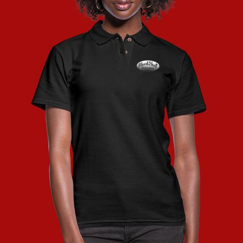 BloodShot Airbrushing Logo - Women's Pique Polo Shirt