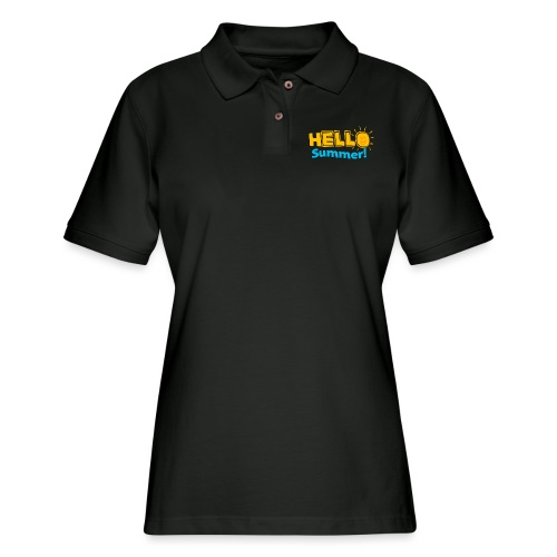 Kreative In Kinder Hello Summer! - Women's Pique Polo Shirt
