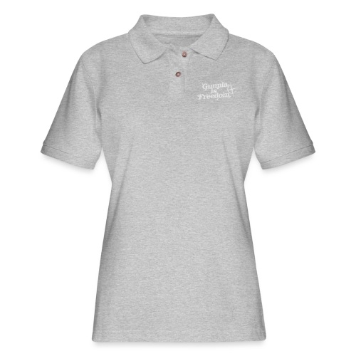 Freedom Men's T-shirt — Banshee Black - Women's Pique Polo Shirt
