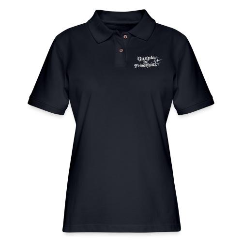 Freedom Men's T-shirt — Banshee Black - Women's Pique Polo Shirt