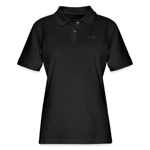 inhale white, thin font - Women's Pique Polo Shirt
