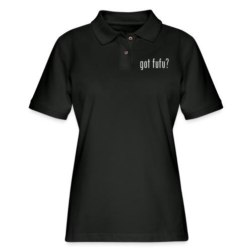 got fufu Women Tie Dye Tee - Pink / White - Women's Pique Polo Shirt