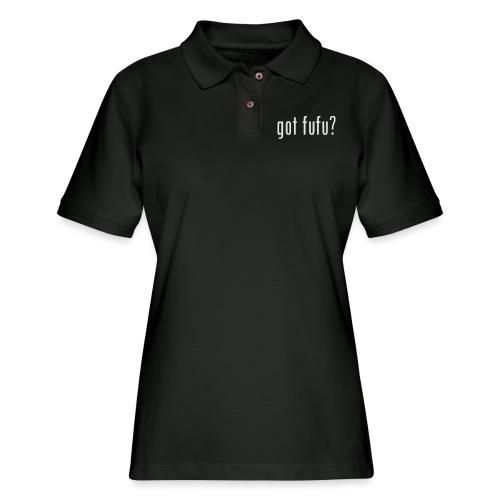 gotfufu-white - Women's Pique Polo Shirt