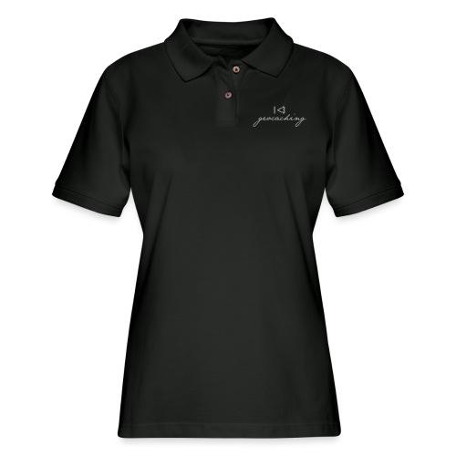 I love geocaching - Women's Pique Polo Shirt