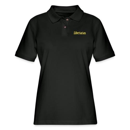 Libertarian 3D - Women's Pique Polo Shirt