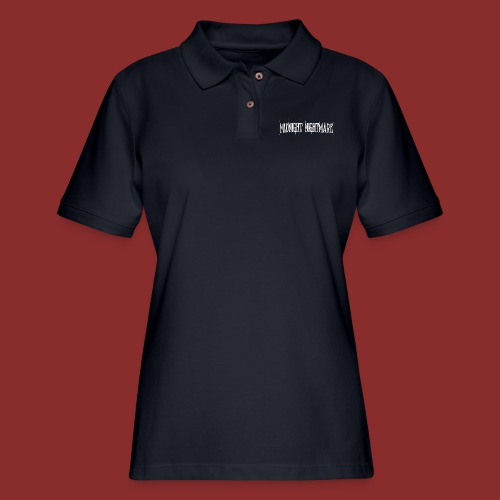 Midnight Nightmare Logo-w - Women's Pique Polo Shirt