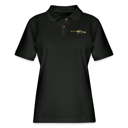 AK-47.png - Women's Pique Polo Shirt