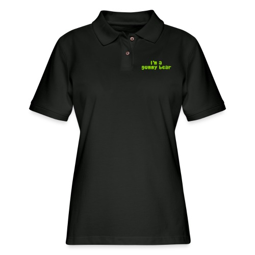 I'm A Gummy Bear Lyrics - Women's Pique Polo Shirt