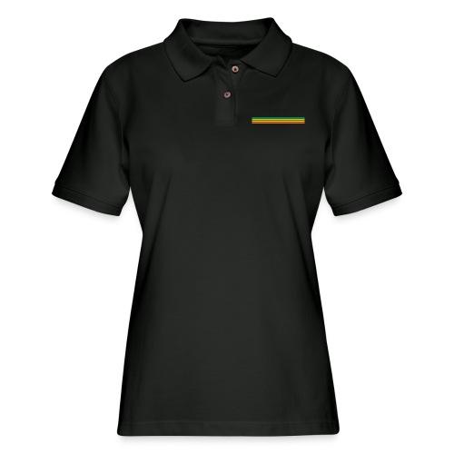 striped mug black logo png - Women's Pique Polo Shirt