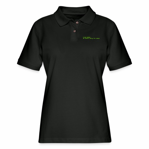man woman. No manual entry for woman - Women's Pique Polo Shirt