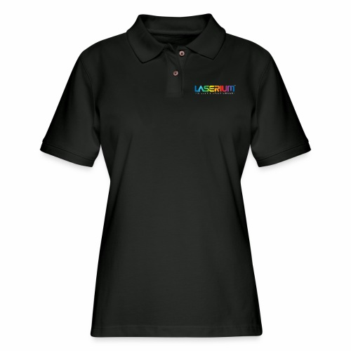 Laserium Logo Colors WhiteTag - Women's Pique Polo Shirt
