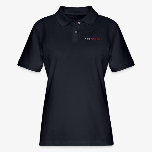 A New World Order Logo - Women's Pique Polo Shirt