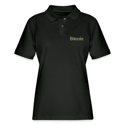 BITCOIN gold - Women's Pique Polo Shirt