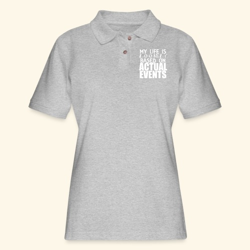 loosely based - Women's Pique Polo Shirt