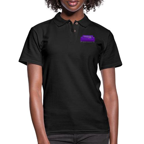 Purple Couch - Women's Pique Polo Shirt