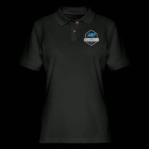 DivanQuest Logo (Badge) - Women's Pique Polo Shirt