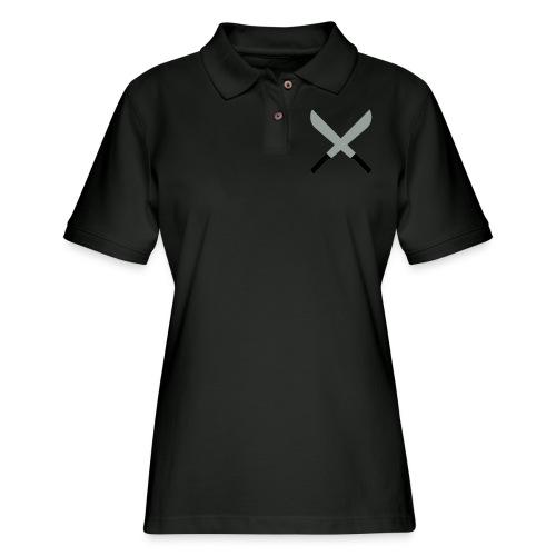 Two Machetes Cross (2 colors, customize) - Women's Pique Polo Shirt