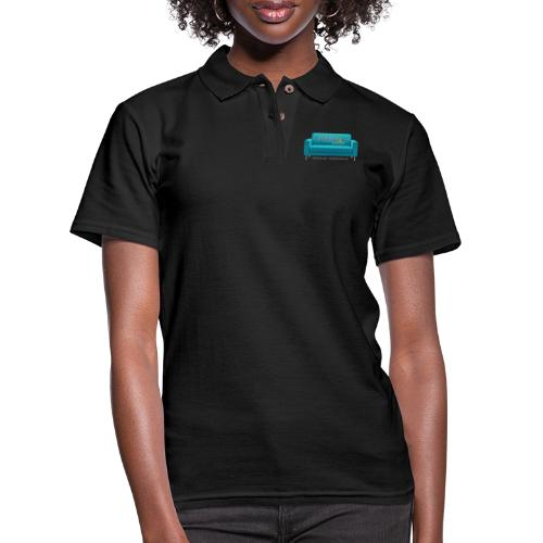 Teal Couch - Women's Pique Polo Shirt